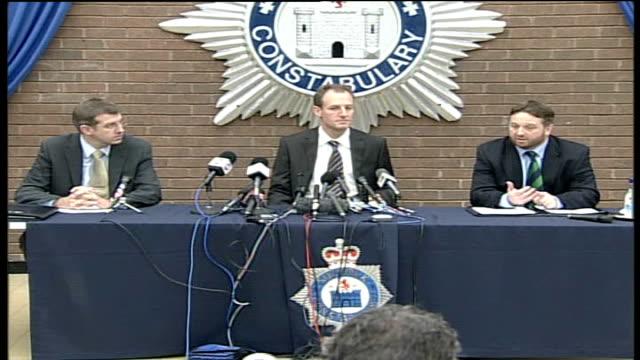 Detective Chief Superintendent Stewart Gull press conference ENGLAND Suffolk Ipswich INT Detective Superintendent Andy Henwood and Detective Chief...