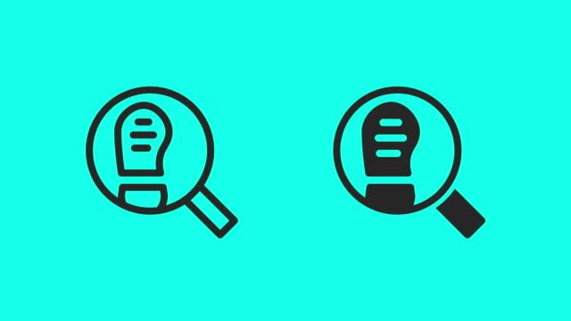 stockvideo's en b-roll-footage met detective icons - vector animatie - spoor vorm