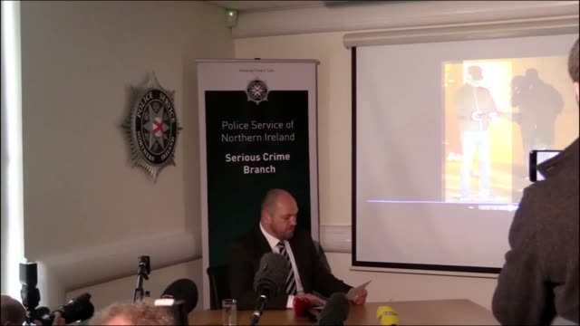psni detective superintendent jason murphy releases new footage of the suspected gunman who murdered journalist lyra mckee in londonderry last week - gunman stock videos and b-roll footage