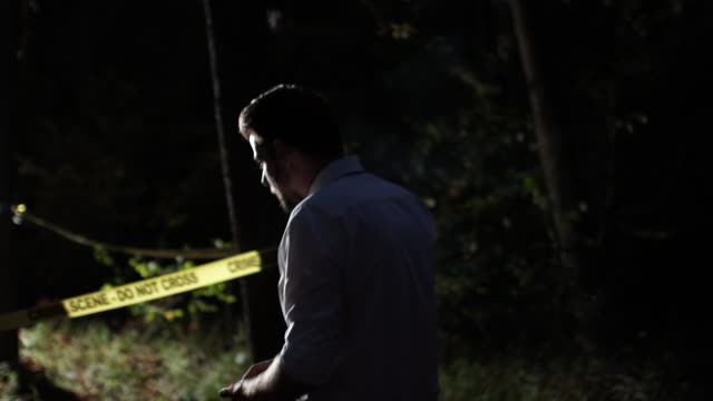 Detectives coming to crime scene 4K