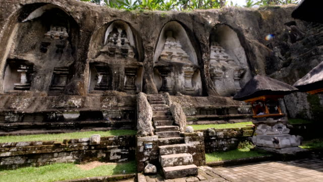 vídeos y material grabado en eventos de stock de deteil de pura gunung kawi templo en bali - cultura indonesia