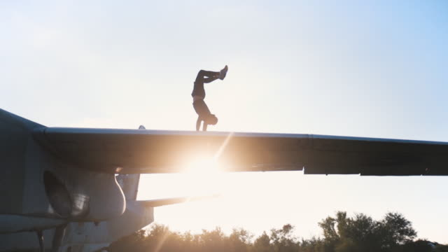 determined man workout on a abandoned plane - military fitness stock videos and b-roll footage