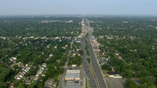 Detroit and suburban Hazel Park, separated by 8 Mile Road.