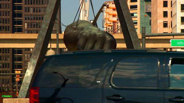 detroit fist - デトロイト点の映像素材/bロール