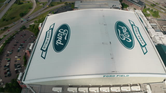 detroit ford field flyover - ford motor company stock videos & royalty-free footage