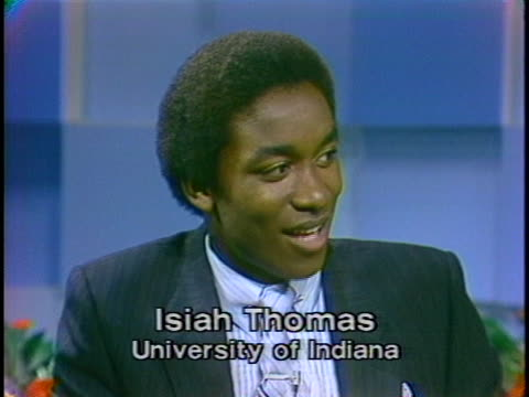 detroit pistons star isiah thomas says he is amazed at how far basketball has taken him to date - sport stock-videos und b-roll-filmmaterial