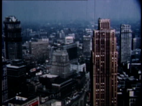 vidéos et rushes de 1951 ha detroit skyline and cityscapes / michigan, united states - détroit michigan