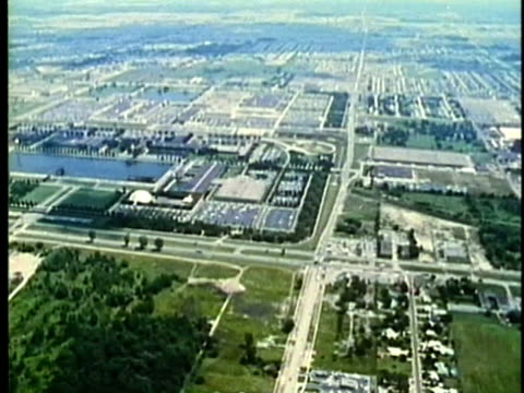 aerial, montage, detroit suburban, 1960's, michigan, usa - 1960 1969 stock videos & royalty-free footage