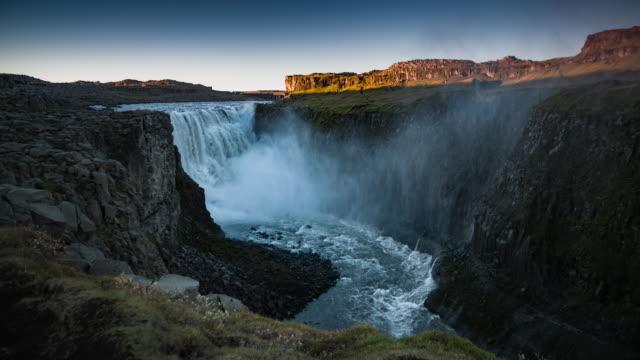 Dettifoss Waterfall Iceland - Slow Motion