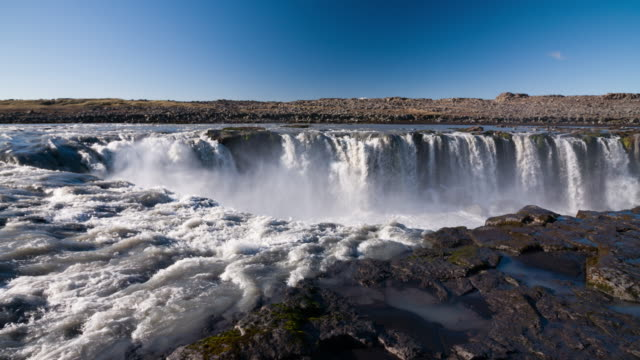 Dettifoss Waterfall in Iceland - Slow Motion