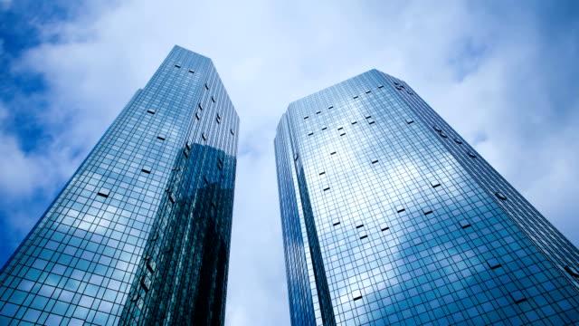 ドイツ銀行ビルディングのタイムラプス,ドイツ - 低い点の映像素材/bロール