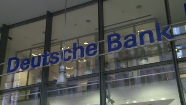 deutsche bank has launched a review to decide whether to relocate some operations to germany if britain votes to leave the european union in a... - deutsche bank stock videos & royalty-free footage