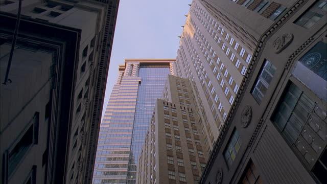 la ms deutsche bank headquarters at 60 wall street / manhattan, new york, new york, usa - deutsche bank stock videos & royalty-free footage