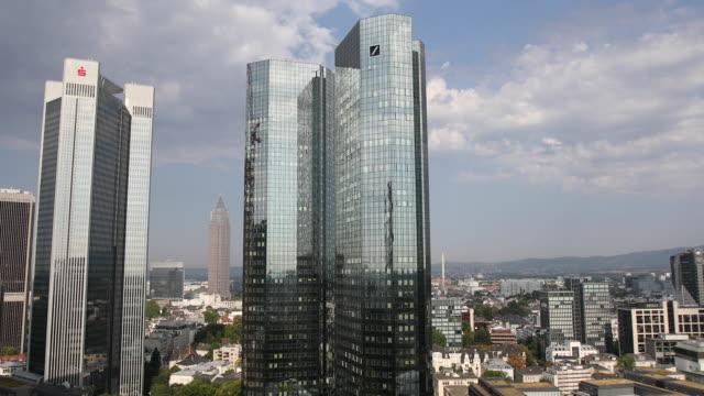 deutsche bank hq in frankfurt germany on wednesday july 25 2018 - deutsche bank stock videos & royalty-free footage