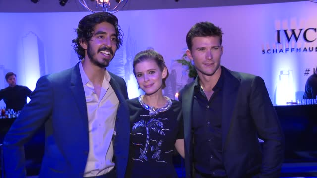 Dev Patel Kate Mara and Scott Eastwood at IWC Schaffhausen Fourth Annual For the Love of Cinema Gala During The Tribeca Film Festival 2016 at Spring...