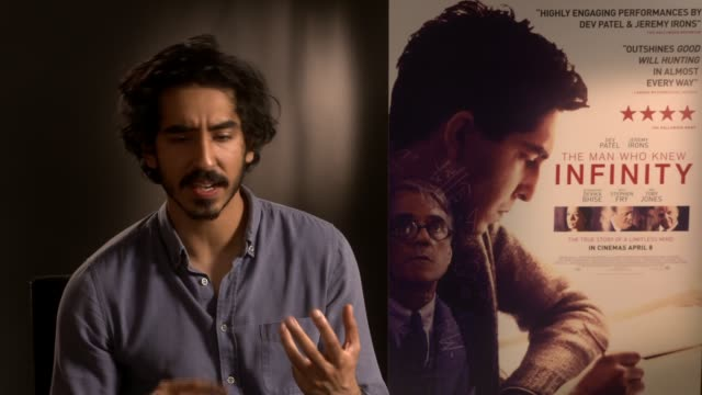interview dev patel on his math skills researching his role at on april 6 2016 in london england - educational subject stock videos and b-roll footage