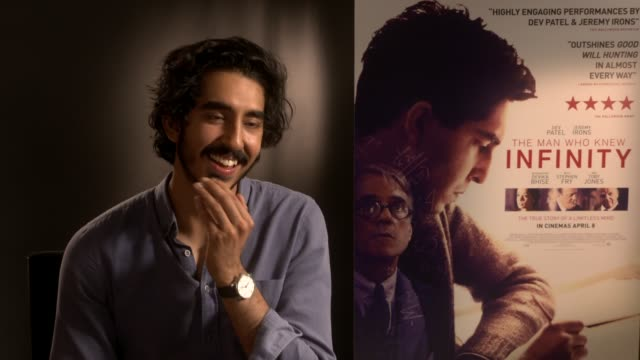 interview dev patel on making a maths movie on the story at 'the man who knew infinity' interview on april 6 2016 in london england - educational subject stock videos and b-roll footage