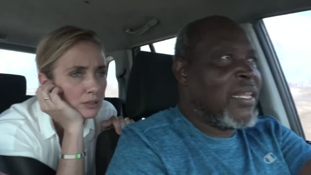 vídeos de stock, filmes e b-roll de devastation caused by hurricane dorian in town of high rock on grand bahama.shows: devastation caused by hurricane seen from car, interview with... - bahamas