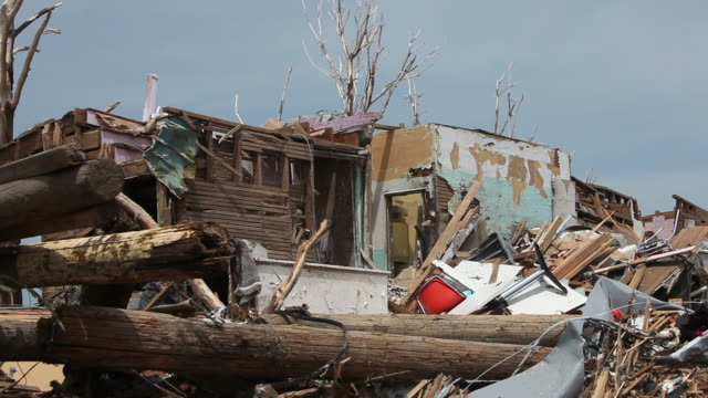 devastation from a tornado - blowhole stock videos & royalty-free footage