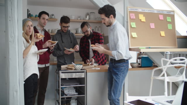 developers on lunch break - lunch stock videos & royalty-free footage