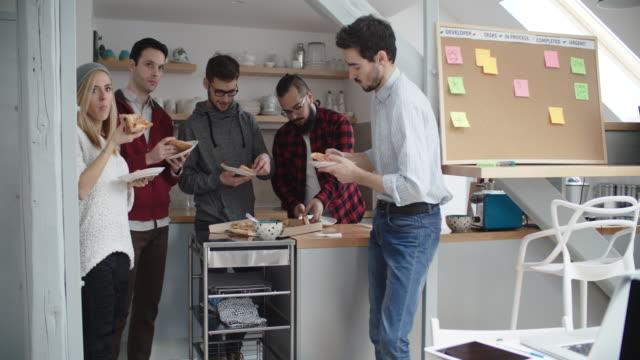 developers on lunch break - lunch break stock videos & royalty-free footage