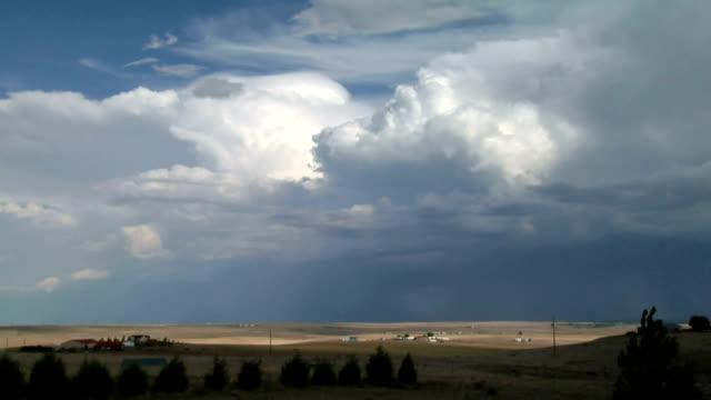 Developing thunderstorm, timelapse