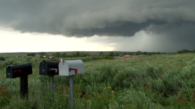 developing tornado over open country - letterbox stock videos & royalty-free footage
