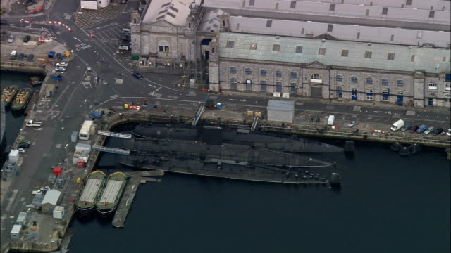 Devenport Dockyard  - Aerial View - England, United Kingdom