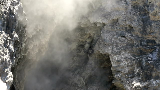 devils bath, copper sulphate coloured water, waiotapu thermal reserve - rotorua stock videos and b-roll footage