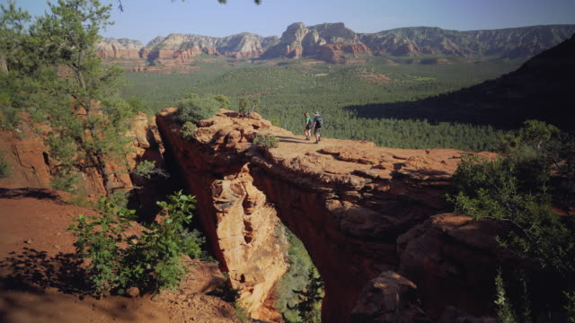 devil's bridge - sedona stock videos & royalty-free footage
