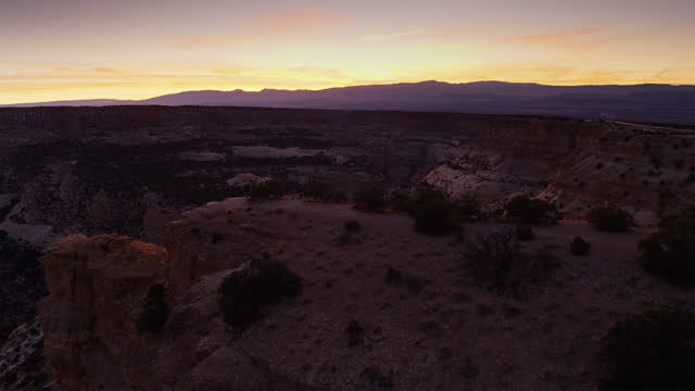 devil's canyon utah after sunset with i-70 running by - southwest usa stock videos & royalty-free footage