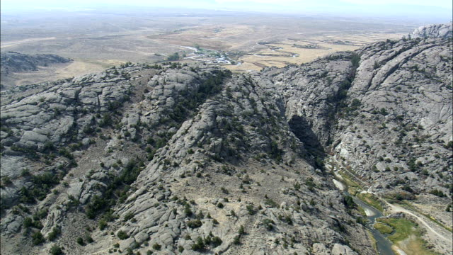 Devil's Gate  - Aerial View - Wyoming, Natrona County, United States