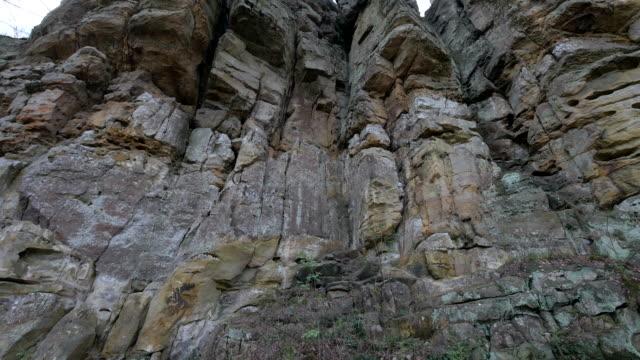 devil's gorge or teufelsschlucht, ferschweiler plateau, south eifel nature park - sandstone stock videos and b-roll footage