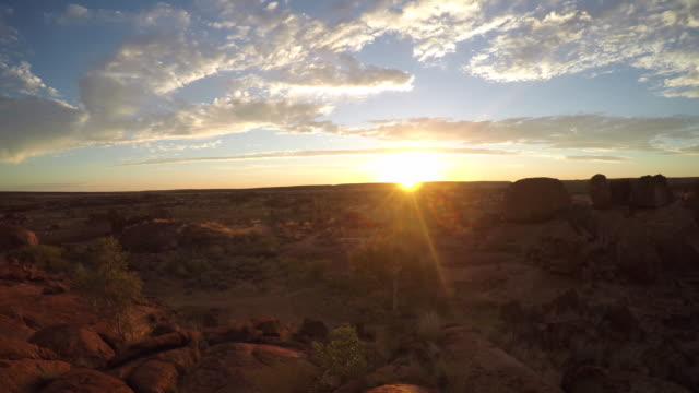 devil's marbles at sunrise, northern territory, australia-4k - australian aboriginal culture stock videos and b-roll footage