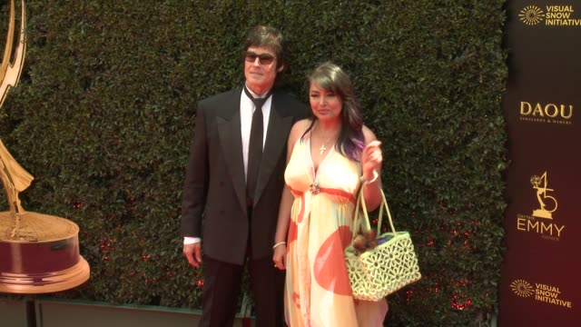 Devin DeVasquez and Ronn Moss at the 2018 Daytime Emmy Awards at Pasadena Civic Auditorium on April 29 2018 in Pasadena California