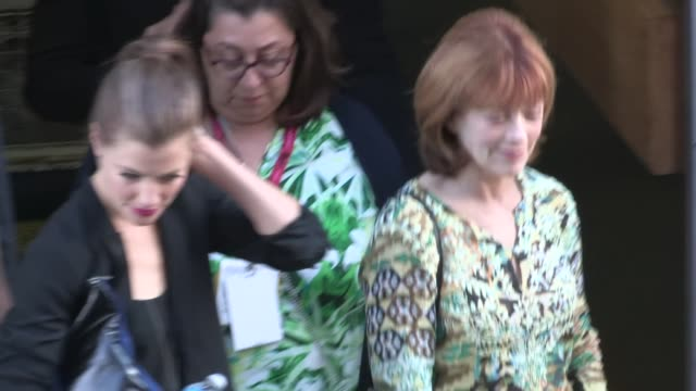 devin kelley omar epps frances fisher exiting the 2014 comic con panel in san diego in celebrity sightings in san diego - san diego comic con stock videos and b-roll footage