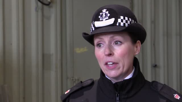 devon and cornwall police demonstrate how they plan to police protestors as part of wider preparations ahead of the g7 summit taking place in june in... - preparation stock videos & royalty-free footage
