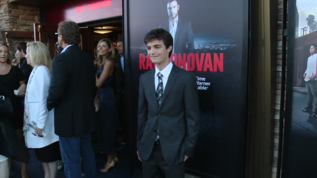 """devon bagby at showtime and time warner cable celebrate season two of """"ray donovan"""" in los angeles, ca 7/9/14 - showtime video stock e b–roll"""