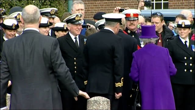 Devon Exeter Wyvern Barracks Queen along during visit to barracks