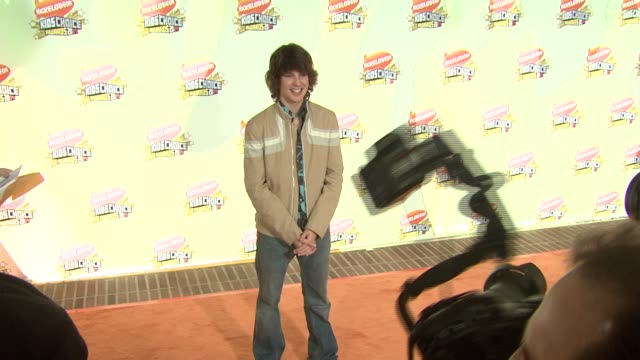 devon werkheiser at the 2007 nickelodeon's kids' choice awards at ucla's pauley pavilion in los angeles, california on march 31, 2007. - nickelodeon stock videos & royalty-free footage
