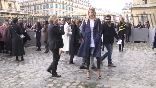 Devon Windsor attends the Christian Dior show as part of the Paris Fashion Week Womenswear Fall/Winter 2016/2017 on March 4 2016 in Paris France