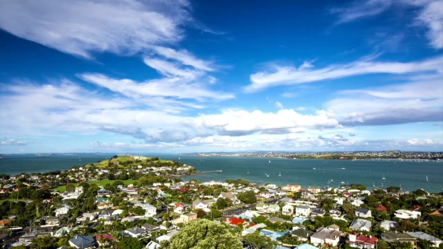 devonport timelapse - auckland ferry stock videos & royalty-free footage