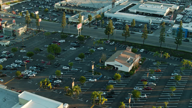 devonshire st cutting between parking lots and big box stores in northridge - parking stock videos & royalty-free footage