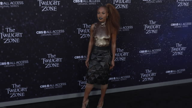 "dewanda wise at the premiere of ""the twilight zone' at the harmony gold preview house and theater on march 26, 2019 in hollywood, california. - harmony gold preview theatre stock videos & royalty-free footage"