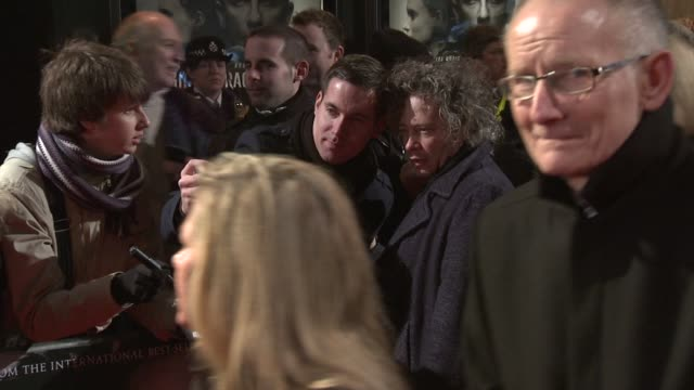 dexter fletcher at the girl with the dragon tattoo world premiere at odeon leicester square on december 12 2011 in london england - the girl with the dragon tattoo stock videos and b-roll footage