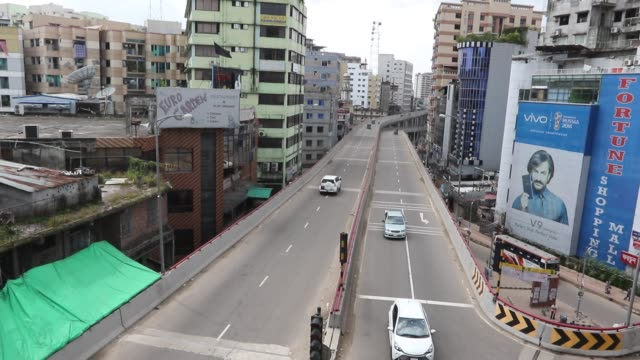 dhaka's shahbagh intersection, one of the busiest thoroughfares in the capital, becomes nearly devoid of traffic during the eid holidays. - religion stock videos & royalty-free footage