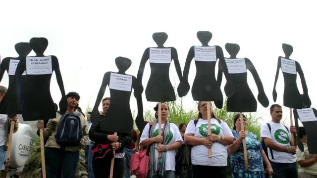 Dia de la Memoria y la Solidaridad con las victimas VOICED Colombia llora a sus victimas on April 09 2012 in Medellin Colombia