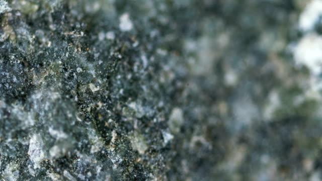 diabase mineral sample under light microscopy - gemology stock videos & royalty-free footage