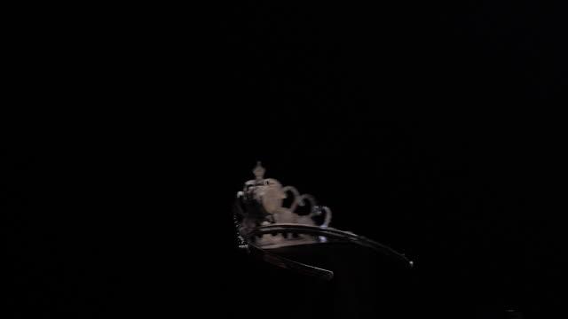 diadem rotation on a black background
