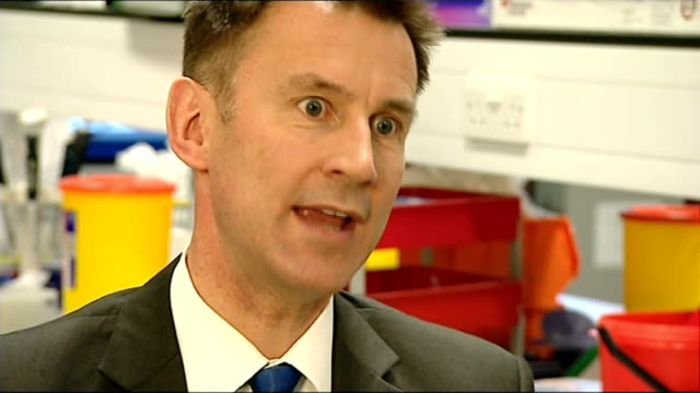 stockvideo's en b-roll-footage met jeremy hunt mp interview sot tyne and wear newcastle upon tyne lesley hedley interview sot various cutaways reporter talking to lesley hedley and... - tyne and wear